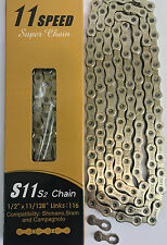 YBN - CHROME 11 SPEED CHAIN -SHIMANO - CAMPAGNOLO - RACE CHAIN -