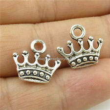 14692*50PCS Antique Silver Vintage Mini Cute Crown Pendant Charm Jewelry Alloy