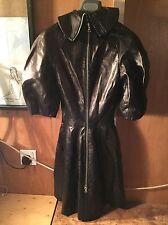 Alexander McQueen Leather Runway Dress Size 38