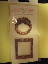 DECORATIVE FRAMES - 3D METAL EMBELLISHMENTS - CARD MAKING/SCRAPBKG - BNIP