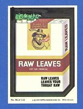 1979 Topps  Wacky Packages  2nd Series   # 96 Raw Leaves Tobacco