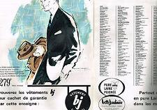 PUBLICITE ADVERTISING  1963   MAGASINS LA BELLE JARDINIERE  ( 2 pages)