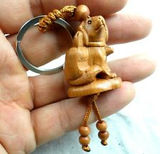33*22MM Hand-carved dog Wooden Crafts, Key Chain, Key Ring Lover F2