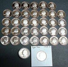 35 DATES 1965-SMS TO 1998-S +1976-S SILVER AND 1979-TYPE 2 WASHINGTON QUARTER