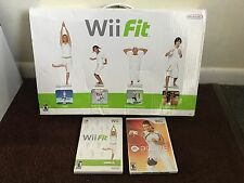 2008 NINTENDO Wii Fit And Balance Board W/2 Games