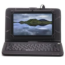 "iRULU 7"" Tablet PC Google Android 4.4 Quad Core Pad Dual Cam with Black Keyboard"