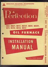 Perfection Oil Furnace Installation Manual Vintage