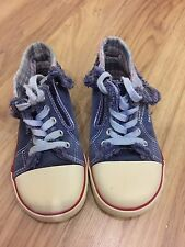 Used Kids shoe blue colour, canvas shoe size 13