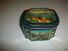Vintage HORNER Hinged Tin Container Niagara Falls