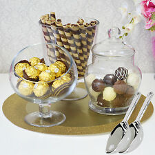 Christmas Party Candy Jars Lolly Buffet .. 3 x Jar Se & 2 Scoops .. Apothecary
