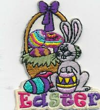 Girl Boy Cub EASTER Bunny Basket Fun Patches Crests Badges SCOUT GUIDE Visit