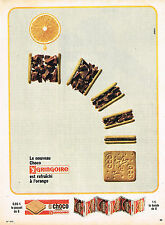 PUBLICITE ADVERTISING 035  1964  GRINGOIRE  biscuits au chocolat  en bande