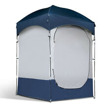 Weisshorn Single Shower Tent Changing Room Toilet Camping Beach Navy/Grey