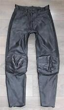 "Black Leather ROAD BY POLO Sport Motorcycle Jeans Trousers Pants Size W30"" L29"""