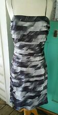 Cache  Bandage/Layers Gray Multi Cocktail/Formal Dress size 6 Spaghetti Straps