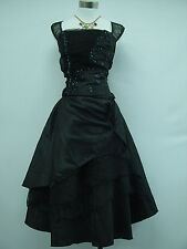 Cherlone Black Prom Cocktail Ball Party Bridesmaid Wedding Evening Dress Size 18