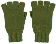 Unisex Royal Speyside 100% Cashmere Fingerless Gloves in Moss Green