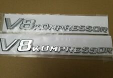 2 X Side Fender Sticker Badge Emblem Letter V8 Kompressor Mercedes SL SLK CL S G