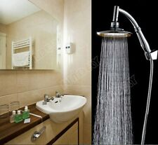 6 inch Round Rainfall Shower Head arm Extension set Saving Water chrome