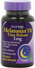 Melatonin Time Release, Natrol, 100 tablets 3mg