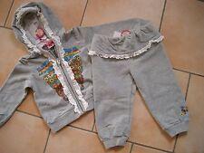 (c209) Nolita pocket Bébé Combinaison sweatjacke & pantalon avec logo pression 9-12 mon