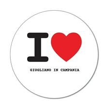 I Love GIUGLIANO IN CAMPANIA-Adesivo Sticker Decal - 6cm
