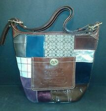 COACH Holiday Patchwork Bucket Bag, Purse #G0749-11356 Limited Edition!