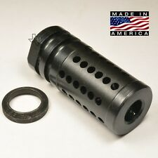 "1/2-28 FXC-1Ex Extended 2""  Muzzle Brake Compensator 223/5.56/22 + Crush Washer"