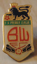 BOLTON WANDERERS Official 1990s FA premier league badge 16mm x 31mm Red script