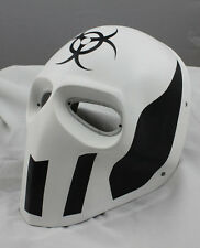 White  Paintball Airsoft Airsoft Full Face PC Lens Eye Protection Skull Mask