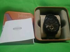 Fossil FS4662 Smoke-Ion Plated Stainless Steel Chronograph Men's Watch Brown