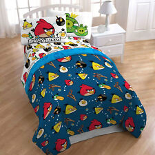 "NEW Angry Birds Kids Twin Comforter 64""x 86"" REVERSIBLE + Tote bag BONUS"