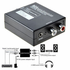 Optical Coaxial Toslink Digital to Analog Audio Converter Adapter L/R RCA +Cable