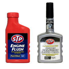 STP 2 Pack ENGINE FLUSH + COMPLETE PETROL FUEL SYSTEM INJECTOR CLEANER TREATMENT
