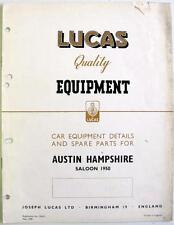 Lucas AUSTIN HAMPSHIRE Saloon Electrics Cars Equipment & Spare Parts 1950 #CE615