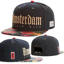 Cappello Amsterdam gold letters baseball snapback hats caps for men/women 09