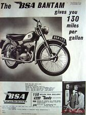 1956 Motor Cycles ADVERT - B.S.A. 'Bantam' & 'Dandy Light Scooter' Print AD #2