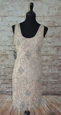 Modcloth Your Plaza or Mine Dress Cappuccino NWTD Sz 6 beaded $160 gorgeous