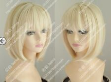 New BOBO light blonde MIXED short straight  cosplay  Heat-resistant wig +wig cap