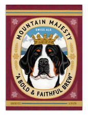 Retro Dogs Refrigerator Magnets - Greater Swiss Mountain Dog Ale - Art