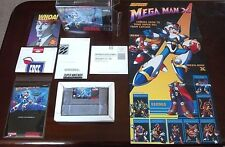 Mega Man X   (SNES, 1993)   FULLY COMPLETE 100% AUTHENTIC GAME + POSTER