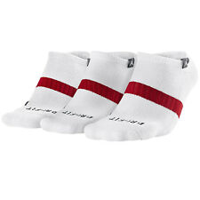 Nike Jordan Dri-fit No-Show Basketball Socks White 546479-100 Sz M 6-8