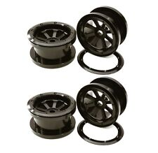 "Integy RC Axial 1/10 Wraith 2.2"" Alloy Beadlock 8 Spoke Wheel Rim Set #OBM23031"