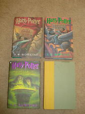 Four Harry Potter Hardcover Books-Year 2,Year 3,Year 6,Year 7-No Yrs 1, 4 & 5