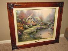 """Thomas Kinkade """"Everett's Cottage"""" Canvas 20""""x24"""" 2818/5950 Signed Framed"""