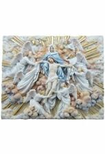 12.25 Inch Madonna Holding Jesus w/ Angels Plaque Christ Statue Religious Decor