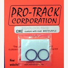 PROTRACK BEADLOCK RING, PURPLE W/RIVETS