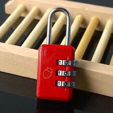 Neu 3 Digit Zahlen Kombination Koffer Metall Zahlenschloss Vorhängeschloss NBDE