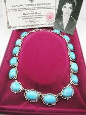 "Jackie  Kennedy Howlite Turquoise Necklace 17"" 3"" ext."