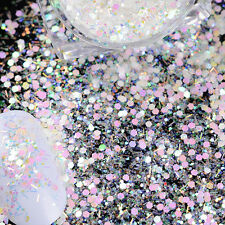 1 Box 3g Nail Sequins Cheese Fairy Hexagon Glitter Powder Manicure Decoration